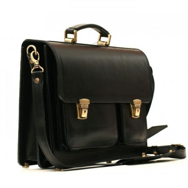 Мужской кожаный портфель SPS-2