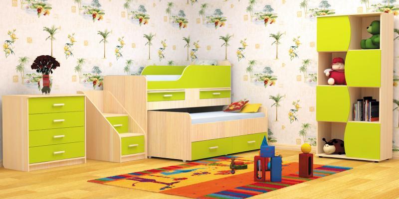 Фото Детские Пирамида-Кровать двухместная детская ЛЁСИКИ