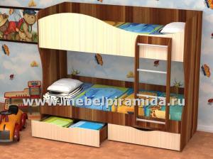 Фото Детские Кровать двухъярусная КУЗЯ(Пирамида)