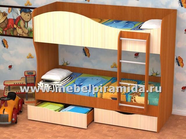 Фото Детские Пирамида-Кровать двухъярусная КУЗЯ