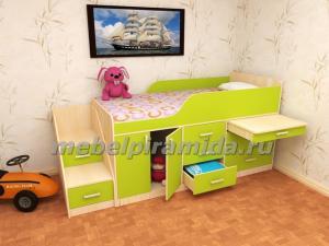 Фото Детские Пирамида-Кровать детская Малыш