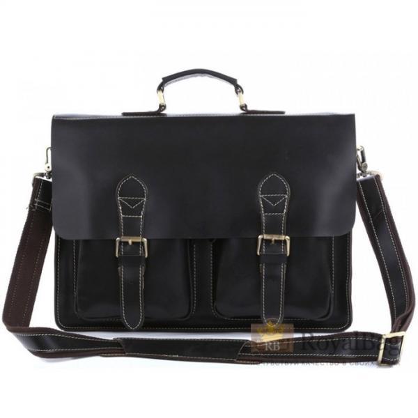 Мужской кожаный портфель TIDING BAG 7105A