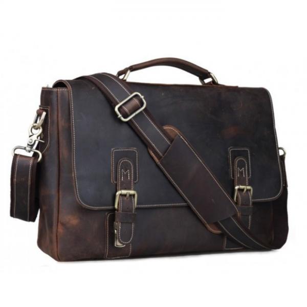 Мужской кожаный портфель TIDING BAG T8069-1