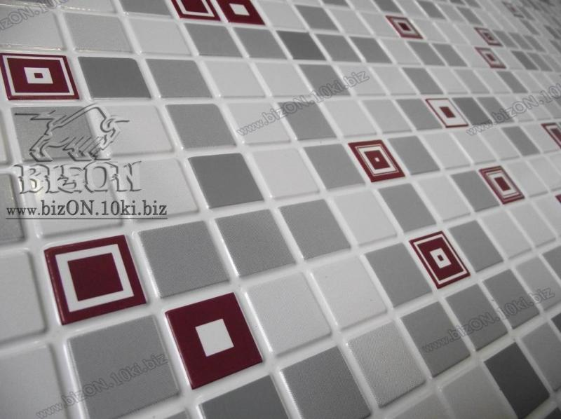 Фото Листовые панели ПВХ Мозаика  «ГЕОМЕТРИЯ  БОРДОВАЯ»       Листовые панели ПВХ