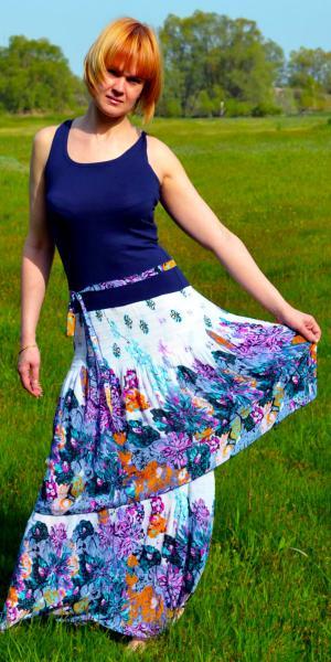 Женский сарафан с цветами   Артикул: 4