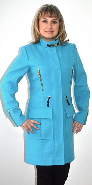 Пальто женское с полуприталенным силуэтом   Артикул: 16-500п