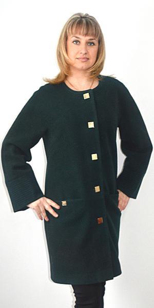 Женское пальто воротник шанель   Артикул: 16-502П