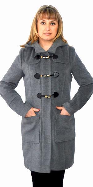 Женское пальто с капюшоном   Артикул: 16-501П