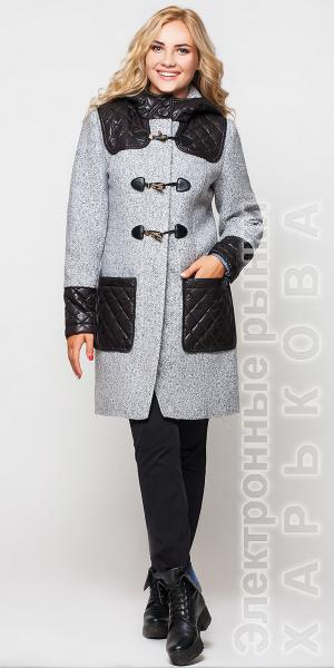 """""""Анастасия"""" женское пальто с капюшоном - Пальто женское на рынке Барабашова"""