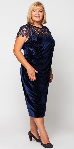 Элегантное вечернее платье с узорным декольте