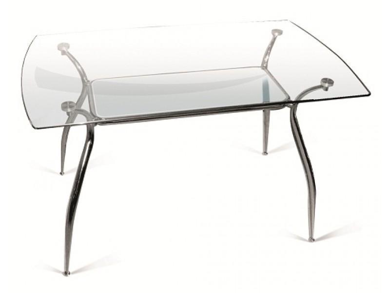 Прямоугольный стеклянный стол «Орфей» 125х70 см