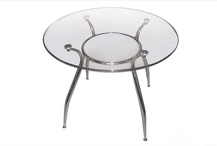 Круглый стеклянный стол «Орфей» D90 (прозрачный)