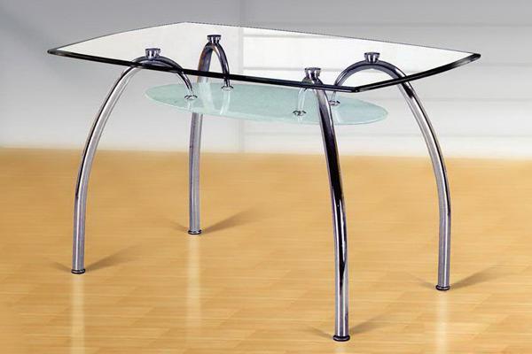 Прямоугольный стеклянный стол «Посейдон» 135х80 см