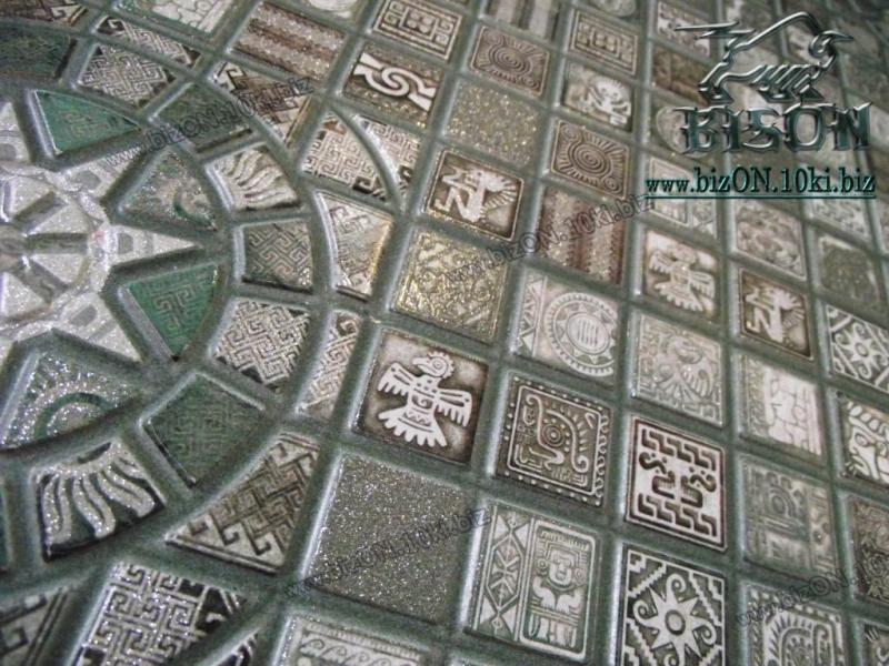 Фото Листовые панели ПВХ Мозаика «МЕДАЛЬОН ОЛИВА»   Листовые панели ПВХ