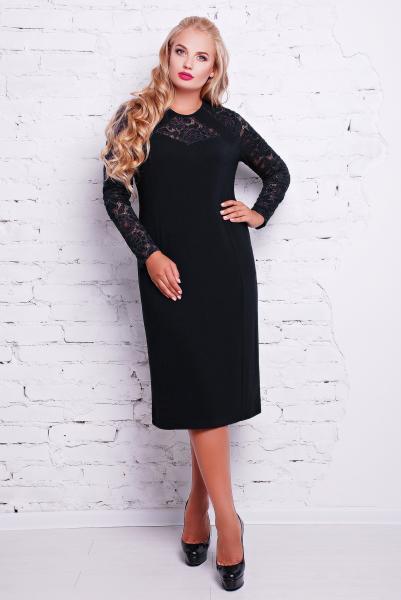 Платье коктейльное цвет черный  ЭЛИНА