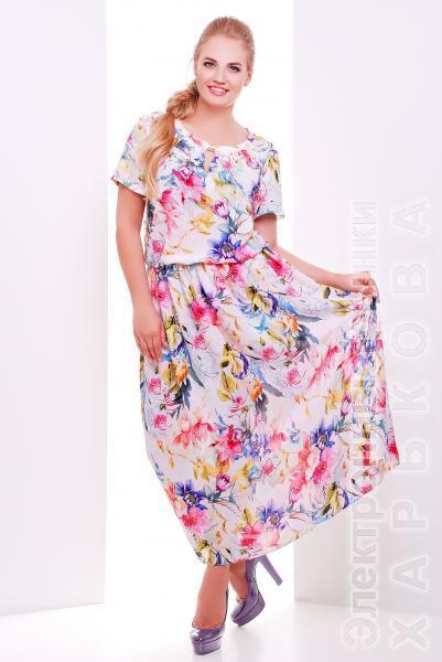 741762def8d Платье из шифона с принтом