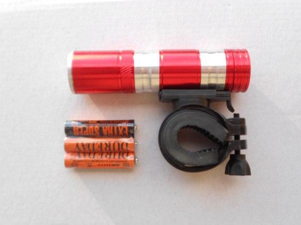 Фара велосипедная 3 режима, алюминий