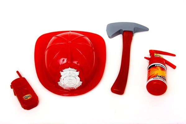 Набор пожарника 906 (48шт) каска, огнетушитель, топор, рация, в сетке, 28-22-9см   Артикул: 01000906