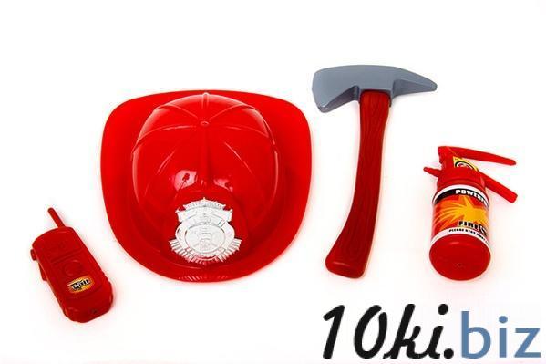Набор пожарника 906 (48шт) каска, огнетушитель, топор, рация, в сетке, 28-22-9см   Артикул: 01000906 Наборы юного пожарника в Украине