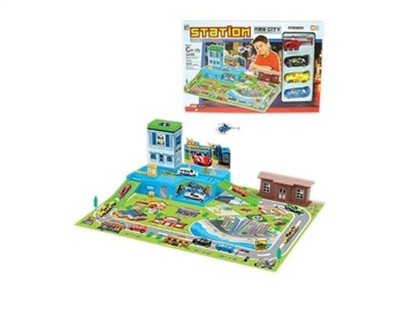 """Паркинг """"STATION"""" JAMBO (арт. 1122) ,игровое поле,4 машинки,пластик,коробка   Артикул: 01001122"""