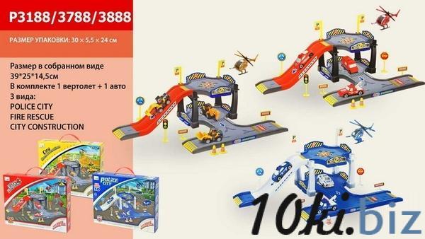 Паркинг P3188/3788/3888 (48шт) 3вида, в коробке 30*24*5см   Артикул: 01003188 Детские железные дороги, автотреки в Украине