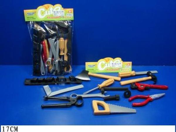 Набор инструментов 8968D-2 (192шт/2) 14 предметов, ключи, отвертки, молоток, в пакете 17*3*24см   Артикул: 01008968