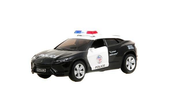 Машинка KT 5368 WP інерц., мет., поліція, 1:38, відкр. двері, гумові колеса, кор., 16-7,5-8 см   Артикул: 01015368