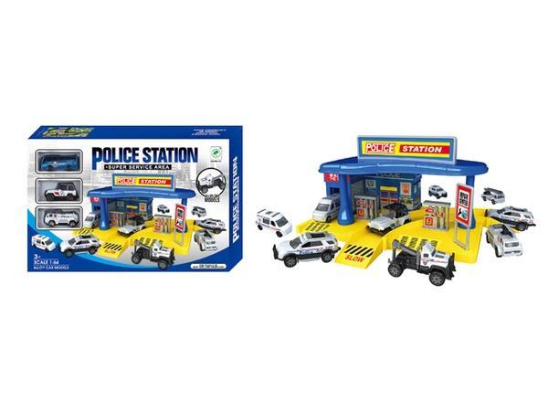 "Паркинг ""POLICE STATION"" (арт. 660-101), синий, 40.5x26.5x8см Jambo 100801362   Артикул: 01030101"