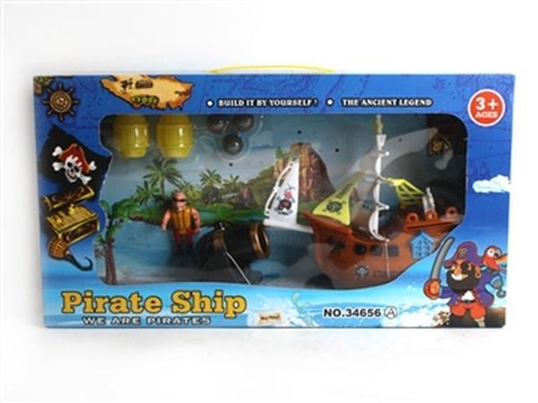 """Пиратский корабль """"Pirate ship"""" JAMBO (арт. 34656A) ,38.5x8.5x20.5cm   Артикул: 01034656"""