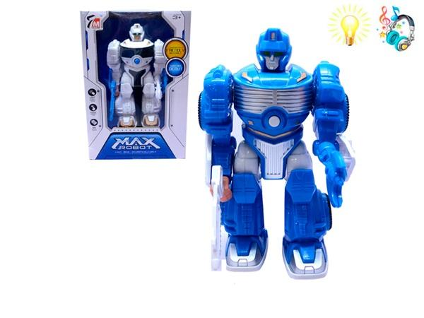 Робот MAX ROBOT (арт. 7M-413), батарейки,свет,звук, 16x11x24см Jambo 100847196   Артикул: 01037413