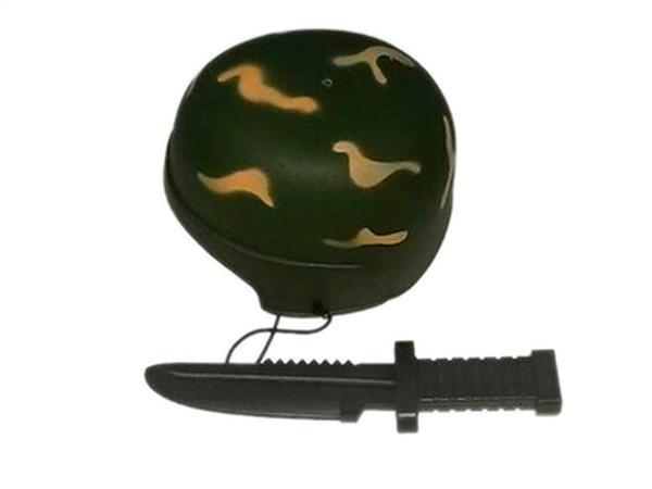 Каска военная JAMBO (арт. 536-3) каска,нож,пластик,сетка.   Артикул: 01105363