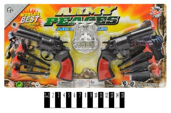 Набір  пістолетів  (2 пістолети+присоски, планшет) YX1503-3 р.18х2,5х32 см.   Артикул: 01105033