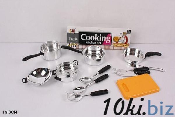 Посуда JJL011-1 (240шт/2) кастрюли, ковши, столов.приборы, досточка, в пакете 19см   Артикул: 02000111 Игрушечная посудка в Украине
