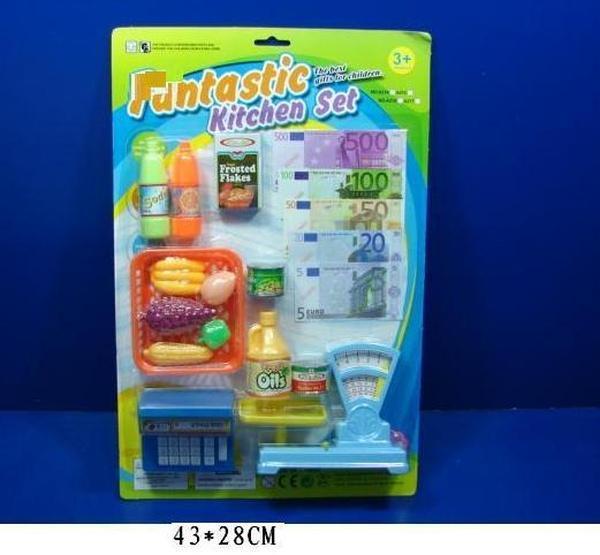 Магазин A214 (72шт/2)весы,продукты,посуда,калькулятор…, на планшетке 43*28см   Артикул: 02000214