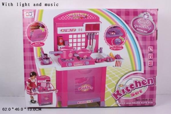 """Набор """"Кухня"""" 008-55 (5шт) батар,газов.плита,набор посуды,в кор. 62*46*13см   Артикул: 02000855"""