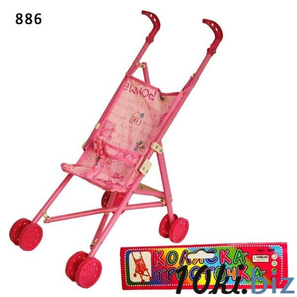 Коляска-тросточка 886 (24шт) 2 вида, пласт, двойные колеса, складная, в пакете 24*54*37 см   Артикул: 02000886 Коляски для кукол в Украине