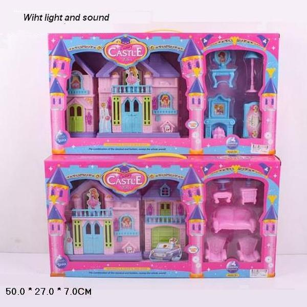 Замок  WD-910A/B (24шт) батар,с мебелью, свет, звук, в кор. 50*27*7см   Артикул: 02000910