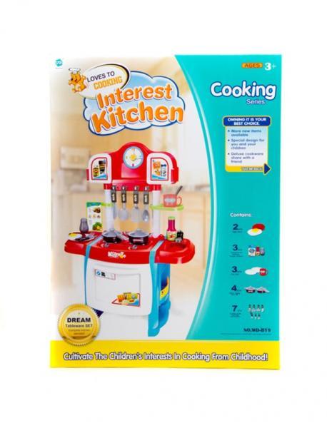 Кухня WD-A19 (8шт) 50-31-10см,плита,духовка,посуда,звук,свет,на бат-ке, в кор-ке, 43,5-59,5-9,5см   Артикул: 02006019