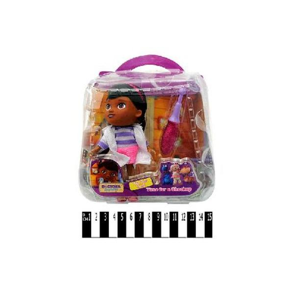 """Лікарський  набір з лялькою з мульт. """"Доктор Плюшева"""" (сумка) 8655-3Х р.16,5х17х7 см   Артикул: 02006553"""