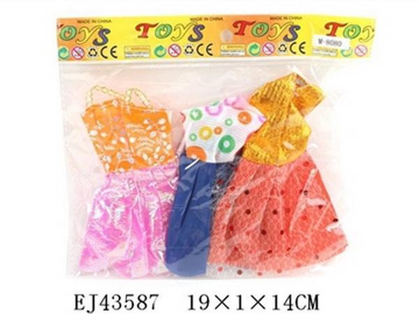 Одежда для кукол M-8080, Платья, 3 шт, в кул. 19x1x14 см JAMBO (100610651)   Артикул: 02008080