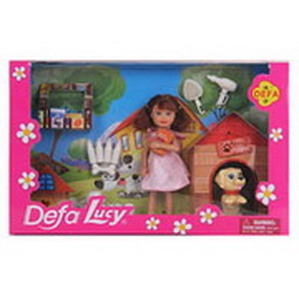 Кукла DEFA 8281 (24шт) 13см,собачки2шт,щенки 3шт,тарелка,бутылочки,косточ,2вид,в кор-ке, 27,5-17-6см   Артикул: 02008281