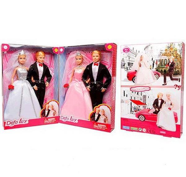 Семья DEFA 8305 (24шт) жених и невеста, 29см, 2 цвета, в кор-ке, 22,5-32,5-5,5см   Артикул: 02008305