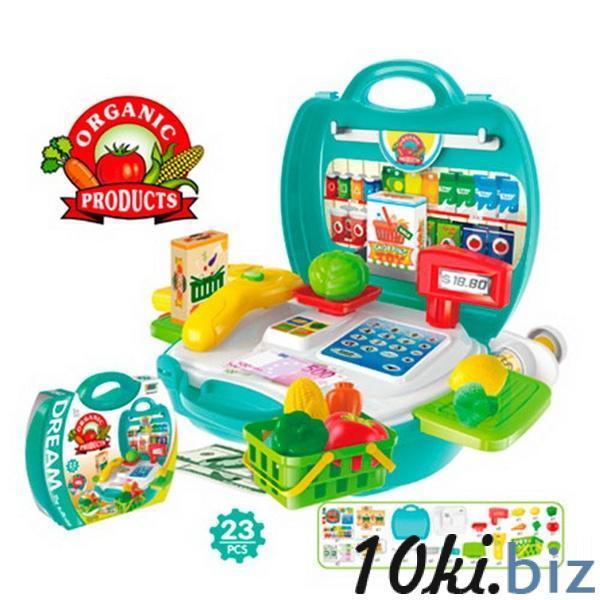 Магазин 8314 (36шт) касса. продукты, корзинка, 23 предмета, в чемодане, 22-22-10см   Артикул: 02008314 Наборы маленьких продавцов в Украине