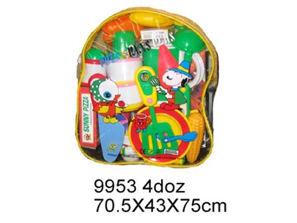Посуда 9953 (48шт/2) тарелки, продукты...в рюкзачке 70,5*43*75см   Артикул: 02009953