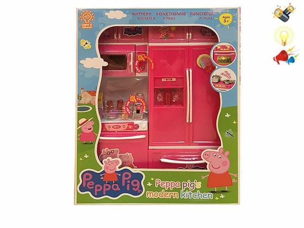 """Н-р """"Кухня"""" Peppa Pig (арт. QF26215PE), батарейки,свет,звук Jambo 100905586   Артикул: 02036215"""