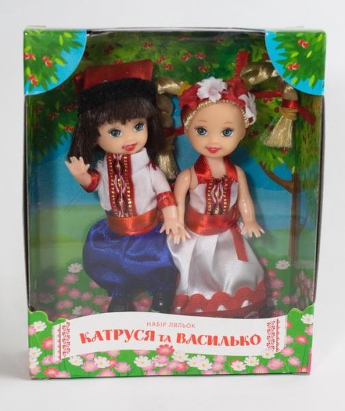 """Кукла """"Катруся та Василько"""" 080109 (144шт/2) 6 видов, в коробке 13*4*14 см   Артикул: 02080109"""