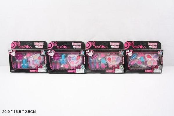 """Косметика """"Monster High"""" 3557ABHE (312шт/2) тени, румяна, помады, блески,лаки,в кор.20*16,5*2,5см   Артикул: 02103557"""