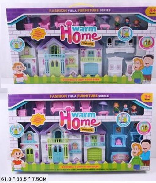 Кукольный дом WD-918A/B с куклами,мебелью,свет.2в.кор.61*7,5*33,5 ш.к./12/   Артикул: 02220918