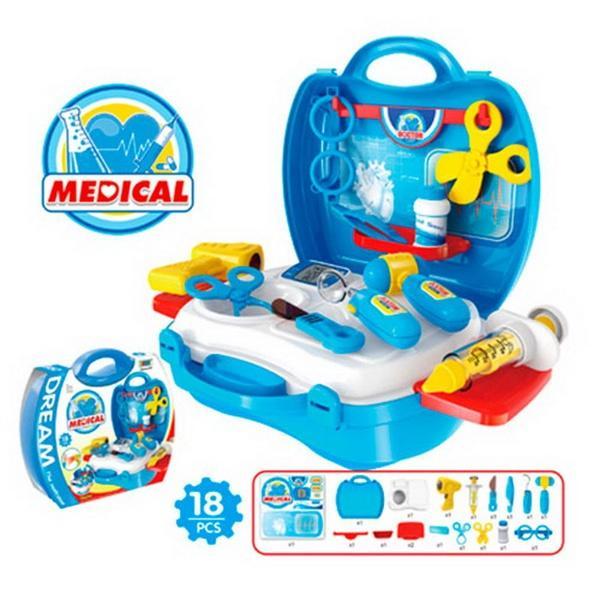 Доктор 8355 (36шт) 18 предметов, в чемодане, 22-22-10см   Артикул: 02228355