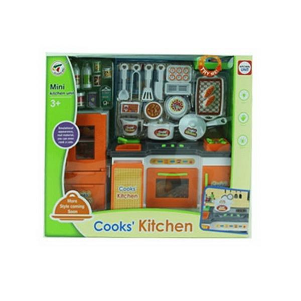 Мебель K1501A-2 (16шт) кухня 31см, свет, посуда, на бат-ке(табл), в кор-ке, 36-31-11см   Артикул: 02301502